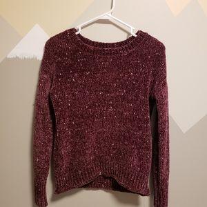 Chenille Burgundy sweater